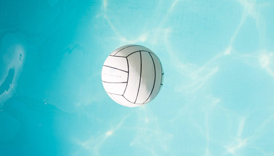 volleyball floating on a body of water